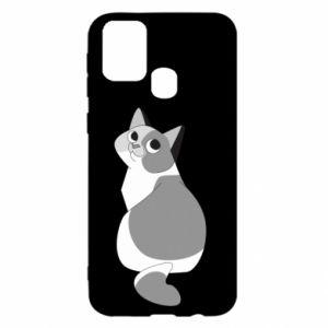 Etui na Samsung M31 Gray cat with big eyes