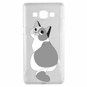 Etui na Samsung A5 2015 Gray cat with big eyes