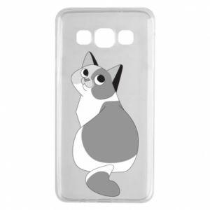 Etui na Samsung A3 2015 Gray cat with big eyes