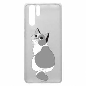 Etui na Huawei P30 Pro Gray cat with big eyes