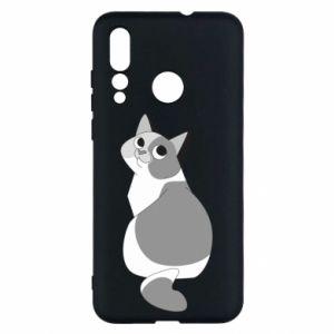 Etui na Huawei Nova 4 Gray cat with big eyes