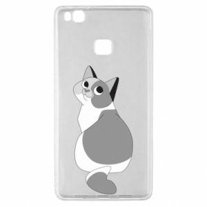 Etui na Huawei P9 Lite Gray cat with big eyes