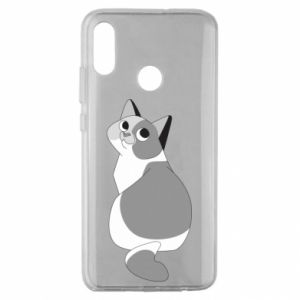 Etui na Huawei Honor 10 Lite Gray cat with big eyes