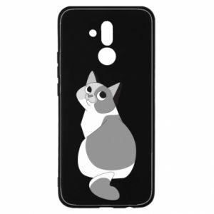 Etui na Huawei Mate 20 Lite Gray cat with big eyes