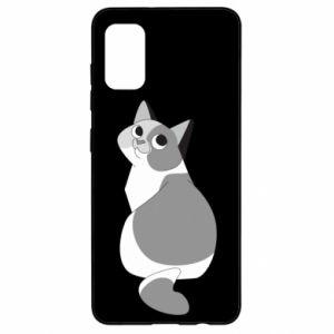 Etui na Samsung A41 Gray cat with big eyes