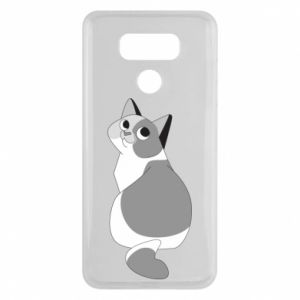 Etui na LG G6 Gray cat with big eyes