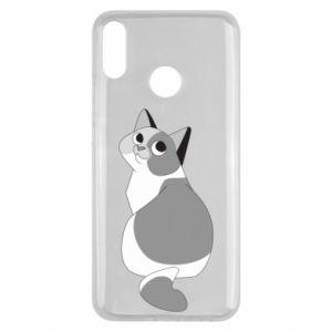 Etui na Huawei Y9 2019 Gray cat with big eyes
