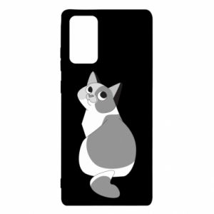 Etui na Samsung Note 20 Gray cat with big eyes