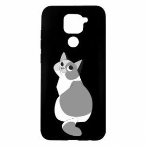 Etui na Xiaomi Redmi Note 9/Redmi 10X Gray cat with big eyes