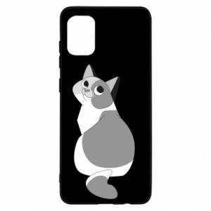Etui na Samsung A31 Gray cat with big eyes