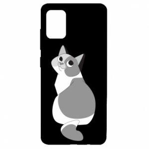 Etui na Samsung A51 Gray cat with big eyes