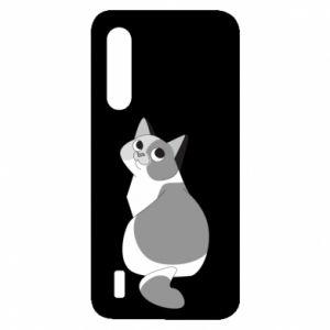 Etui na Xiaomi Mi9 Lite Gray cat with big eyes
