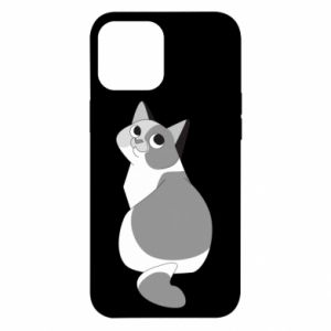 Etui na iPhone 12 Pro Max Gray cat with big eyes