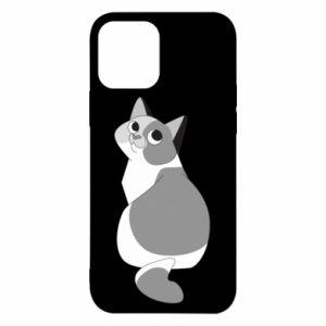 Etui na iPhone 12/12 Pro Gray cat with big eyes