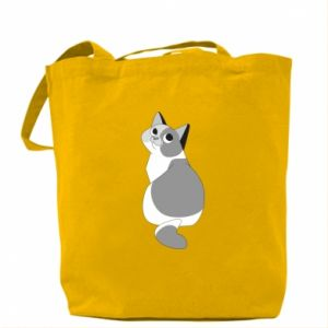 Bag Gray cat with big eyes - PrintSalon