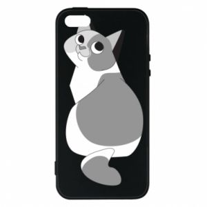 Phone case for iPhone 5/5S/SE Gray cat with big eyes - PrintSalon