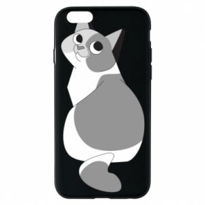 Phone case for iPhone 6/6S Gray cat with big eyes - PrintSalon