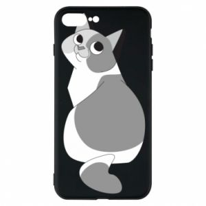 Phone case for iPhone 7 Plus Gray cat with big eyes - PrintSalon