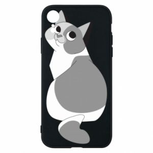 Phone case for iPhone XR Gray cat with big eyes - PrintSalon