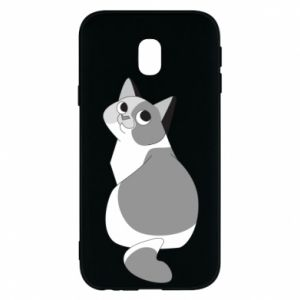 Phone case for Samsung J3 2017 Gray cat with big eyes - PrintSalon
