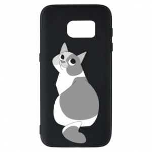 Phone case for Samsung S7 Gray cat with big eyes - PrintSalon