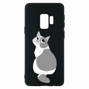 Phone case for Samsung S9 Gray cat with big eyes - PrintSalon