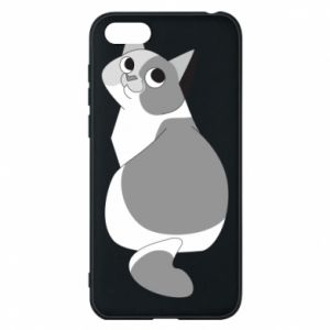 Phone case for Huawei Y5 2018 Gray cat with big eyes - PrintSalon