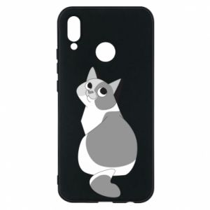 Phone case for Huawei P20 Lite Gray cat with big eyes - PrintSalon