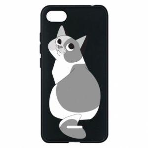 Phone case for Xiaomi Redmi 6A Gray cat with big eyes - PrintSalon