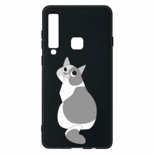 Phone case for Samsung A9 2018 Gray cat with big eyes - PrintSalon