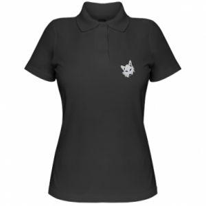 Damska koszulka polo Gray fox - PrintSalon