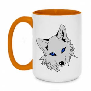 Two-toned mug 450ml Gray fox