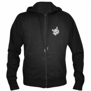 Męska bluza z kapturem na zamek Gray fox - PrintSalon