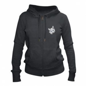 Women's zip up hoodies Gray fox