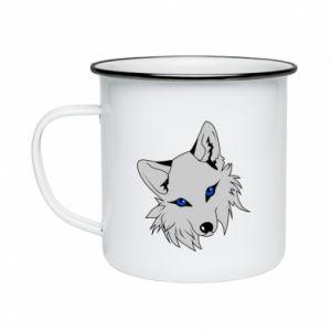 Enameled mug Gray fox