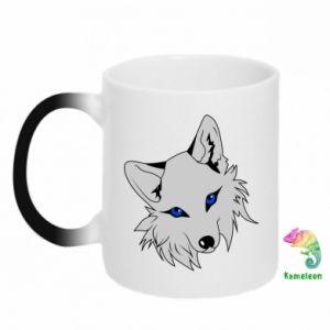 Kubek-kameleon Gray fox - PrintSalon