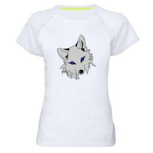 Damska koszulka sportowa Gray fox - PrintSalon