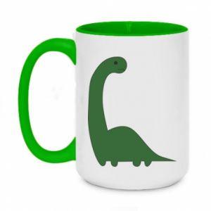 Kubek dwukolorowy 450ml Green Dino