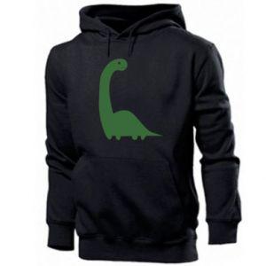 Męska bluza z kapturem Green Dino