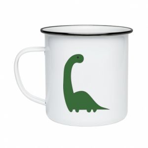 Enameled mug Green Dino