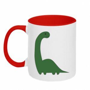 Kubek dwukolorowy Green Dino