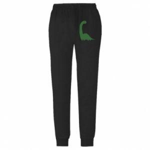 Męskie spodnie lekkie Green Dino