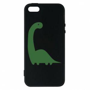 Etui na iPhone 5/5S/SE Green Dino