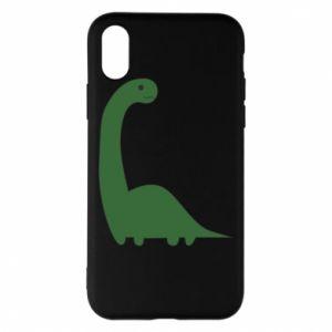 Etui na iPhone X/Xs Green Dino