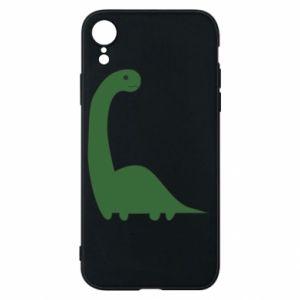 Etui na iPhone XR Green Dino