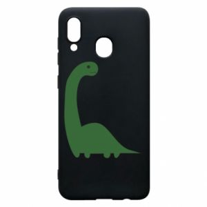 Etui na Samsung A20 Green Dino