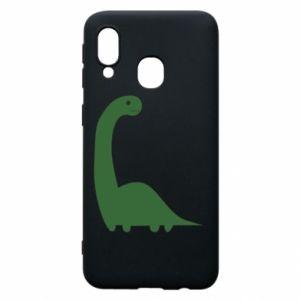 Etui na Samsung A40 Green Dino