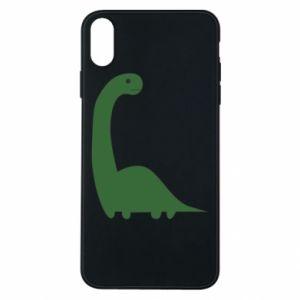 Etui na iPhone Xs Max Green Dino