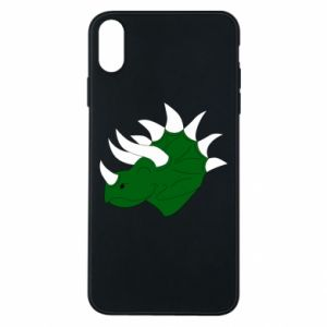 Phone case for iPhone Xs Max Green dinosaur head - PrintSalon