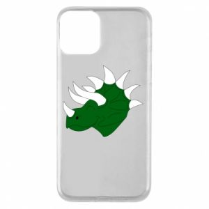 Phone case for iPhone 11 Green dinosaur head - PrintSalon